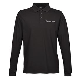 Long sleeve polo, men, slim fit