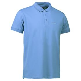 Stretch Polo, men, light blue