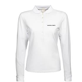 Long sleeve polo, wmn, slim fit