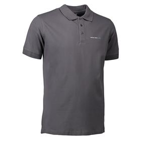 Stretch Polo, men, dark grey