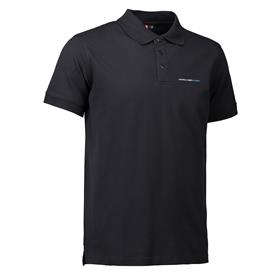 Stretch Polo, men, black