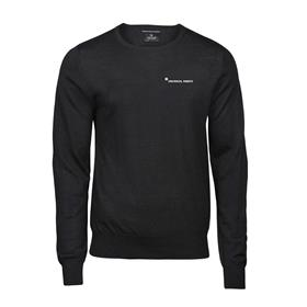 Knitted pullover, men, black