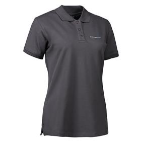 Stretch Polo wmn, dark grey