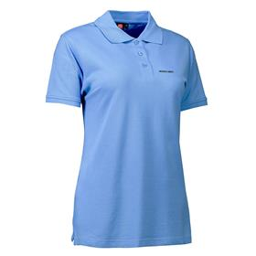 Stretch polo, wmn, light blue